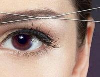 как удалять волосы нитью?